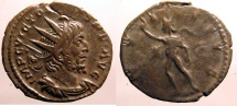 Ancient Coins - Victorinus: Billon Antoninianus, Sol with whip reverse