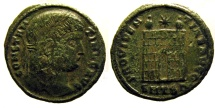 Ancient Coins - Constantine I: Camp gate of Thessalonica