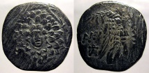 Ancient Coins - Pontic Kingdom, Amisos: Aegis with Gorgon obverse with Nike reverse