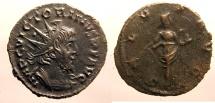 Ancient Coins - Victorinus: Billon Antoninianus, Salus reverse
