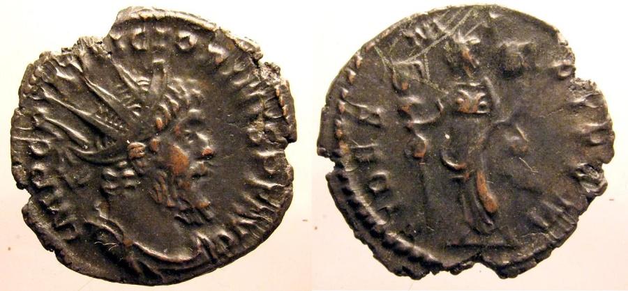 Ancient Coins - Victorinus; Billon Antoninianus, Fides reverse