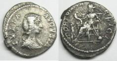 Ancient Coins - Julia Domna: AR Silver Denarius, Fortuna reverse