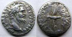 Ancient Coins - Septimius Severus: AR Denarius, Legionary eagle reverse