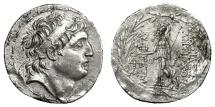 Ancient Coins - Seleucids - ANTIOCHOS VII, 138 - 129 BC.   Tetradrachm, Cappadocian mint, under Ariarathes VII, 104 - 102 BC.   Near EF.