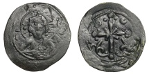 Ancient Coins - Anonymous.   Under Nikephoros III, AD 1078 - 1081. Follis, Constantinople.   VF.
