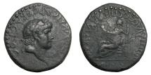 Ancient Coins - Lycaonia - Iconium.   NERO, AD 54 - 68.   Æ 25, AD 62 - 65.   Rare, VF.