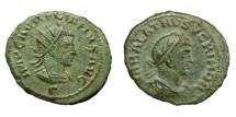 Ancient Coins - AURELIAN, AD 270 - 275, and VABALLATHUS, AD 270 - 272.   Antoninianus, Antioch.   EF / near EF.