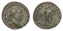 Ancient Coins - CONSTANTIUS I, Caesar AD 293 - 305.   Follis, Treveri (Trier), AD 296 - 297.   Rare variety, VF.