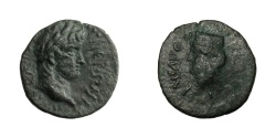 Ancient Coins - Cilicia - Anazarbos(?).   NERO, AD 54 - 68. Æ 14.   Very rare, VF.