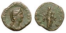 Ancient Coins - OTACILIA SEVERA.   Sestertius, Rome, AD 244.   VF.