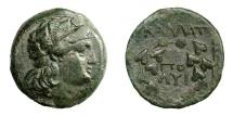 Ancient Coins - KALLATIS.   Æ 21, 3rd - 2nd century BC.   Rare, good VF.