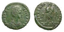 Ancient Coins - AELIA FLACCILLA, - AD 386.   Æ, Heraclea, 383 - 386.   Rare, VF.