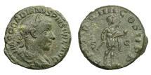 Ancient Coins - GORDIAN III, AD 238 - 244.   As, Rome, AD 241.   Rare, good VF.