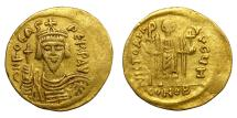 Ancient Coins - PHOCAS, AD 602 - 610.   Solidus, Constantinople.   VF.