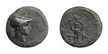 Ancient Coins - Aeolis - TEMNOS.   Æ 15, 3rd - 2nd century BC.   Very rare, EF.