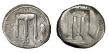 Ancient Coins - Bruttium - KROTON.   Nomos, 480 - 430 BC.   VF.