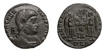 Ancient Coins - MAGNENTIUS, AD 350 - 353.   Æ, Arelate (Arles).   Near EF.