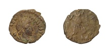 Ancient Coins - VALENTINIAN III, AD 425 - 455.   Æ 12, Rome.   Very rare, VF.