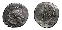 Ancient Coins - ANONYMOUS.   Quinarius, after 211 BC.   Good VF.
