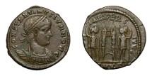 Ancient Coins - CONSTANTINE II, Caesar AD 317 - 337.   Follis, Cyzicus, AD 331 - 334.   Rare variety, VF.