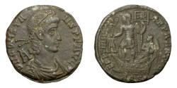 Ancient Coins - CONSTANS, Aug. AD 337 - 350.   Æ, Aquileia, AD 348 - 350.   Rare, good VF.