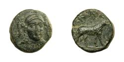 Ancient Coins - Ionia - KLAZOMENAI.   Æ 11, 4th century BC.   Very rare, VF.