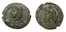 Ancient Coins - CONSTANTIUS II, AD 337 - 361.   Æ, Antioch, AD 348 - 350.   Near EF.