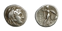Ancient Coins - Egypt - PTOLEMY I, 323 - 305 BC.   Drachm, Alexandria, 311 BC.   Very rare,  VF.