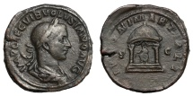 Ancient Coins - VOLUSIAN, AD 251 - 253.   Sestertius, Rome, AD 252.   Rare, VF.