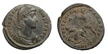 Ancient Coins - CONSTANTIUS II, AD 337 - 361.   Æ, Antioch, AD 350 - 355.   Near EF.