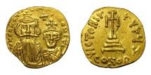 Ancient Coins - CONSTANS II, AD 641 - 668.   Solidus, Constantinople.   Near EF.