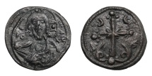 Ancient Coins - Anonymous.   Under Nikephoros III, AD 1078 - 1081. Follis, Constantinople.   Good VF.