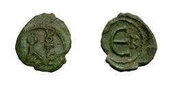 Ancient Coins - JUSTIN II, AD 565 - 578.   Pentanummium, Cyzicus.   Rare, EF.