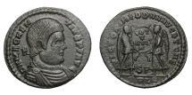 Ancient Coins - MAGNENTIUS, AD 350 - 353.   Æ, Lugdunum (Lyon).   EF.