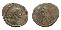 Ancient Coins - DIOCLETIAN, AD 284 - 305.   Antoninianus, Ticinum, AD 287.   Rare, near EF.