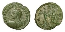 Ancient Coins - AURELIAN, AD 270 - 275.   Antoninianus, Siscia, AD 272 - 273.   Very rare, VF.