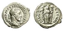 Ancient Coins - MAXIMINUS I, AD 235 - 238.   Denarius, Rome, AD 235 - 236.   Good VF.