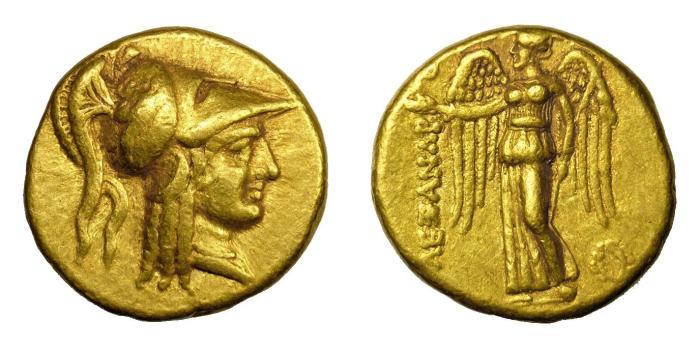 Ancient Coins - ALEXANDER III, 336 - 323 BC.   AV Stater, Sidon, 333 - 305 BC.   Near EF.