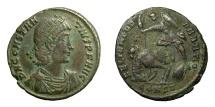 Ancient Coins - CONSTANTIUS II, AD 337 - 361.   Æ, Constantinople, AD 348 - 351.   VF.