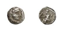 Ancient Coins - ALEXANDER III, 336 - 323 BC.   Obol, Arados(?).   Rare, near VF.