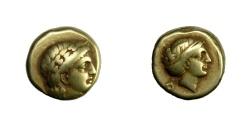 Ancient Coins - Lesbos - MYTILENE.   EL Hekte, 377 - 326 BC.   VF.