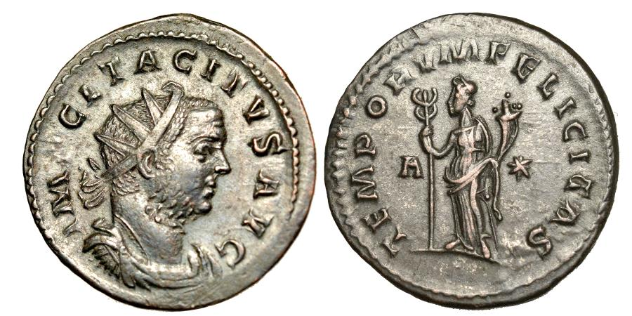 Ancient Coins - TACITUS. Ae antoninianus. 275 - 276 A.D.