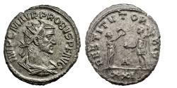 Ancient Coins -  PROBUS. Ae antoninianus. Antioch. 270 - 275 A.D..   Extremely Fine..  8585.