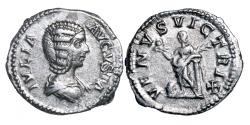 Ancient Coins - Julia Domna. AR denarius.   Wife of Septimius Severus.