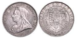World Coins - Victoria. Shilling. 1893. About Uncirculated.