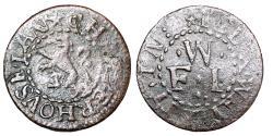 World Coins - London. Charterhouse Lane. Felix Waylett.. Farthing.. 17th century..