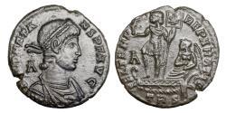 Ancient Coins -  CONSTANS.. Ae centenionalis. Trier.. 337-350 A.D.. GVF or better.