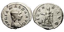 Ancient Coins - JULIA MAESA. AR denarius.  Grandmother of Severus Alexander..