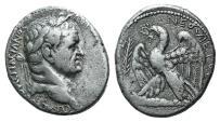 """Ancient Coins - Seleucis and Pieria. Antioch. Vespasian. AD 69-79. AR Tetradrachm. Dated """"New Holy Year"""" 2 (AD 69/70)."""