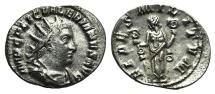 Ancient Coins - Valerian I. AD 253-260. AR Antoninianus. Rome mint. 1st emission, AD 253-254. / Fides EF